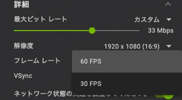 1080pの60FPSが上限